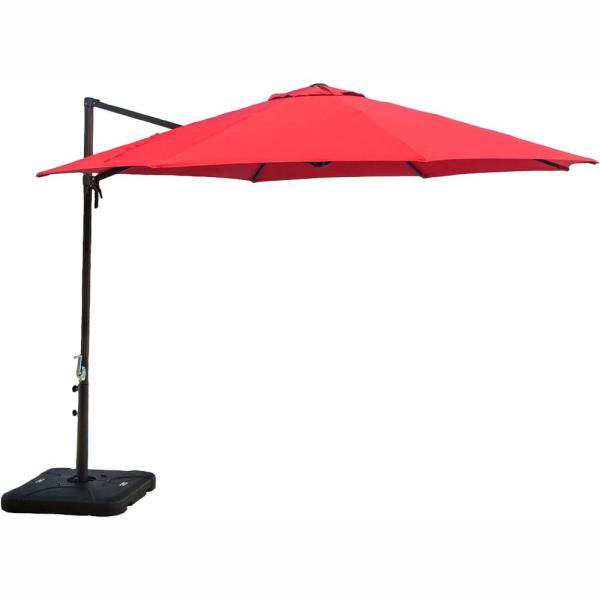 Cambridge Cantilever 11 ft.Patio Umbrella in Red CANUMB-RD - The .