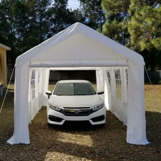 Quictent 20'x10' Heavy Duty Garage Carport Car Shelter Canopy .
