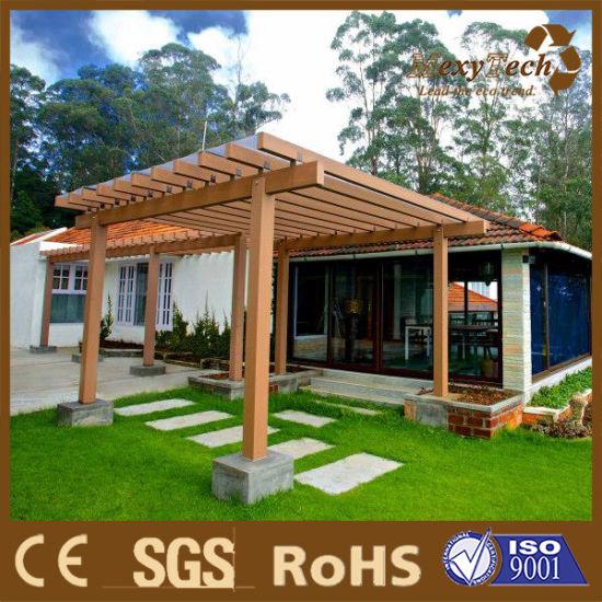 China Customized Size Carport Designs Garden Pergola Wood WPC .