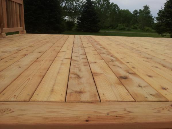 Wait for dry weather to stain a new cedar deck? - DoItYourself.com .