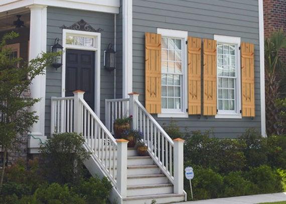 Cedar Farmhouse Style Shutters Rustic Farmhouse Window | Et