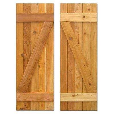 Cedar - Board & Batten Shutters - Exterior Shutters - The Home Dep