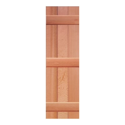 Southern Shutter 2-Pack Raw Cedar Board and Batten Wood Exterior .