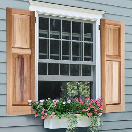 Exterior Wooden Shutters - Cedar Shutters | Hooks & Lattice .