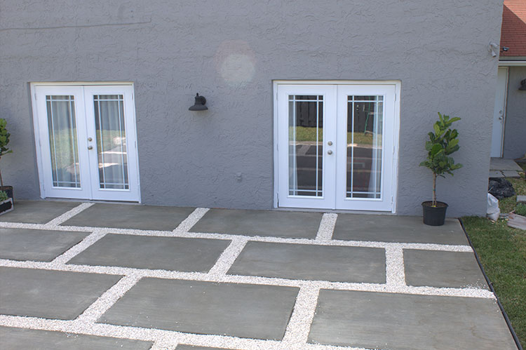 Create a Stylish Patio with Large Poured Concrete Pave