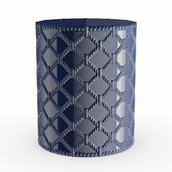 Shop Havenside Home Winthrop Navy Modern Ceramic Garden Stool - On .