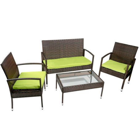 CLEARANCE! Outdoor Patio Furniture Sets, SEGMART 4 Pieces Outdoor .