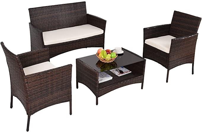 Amazon.com: Patio Furniture Sets Clearance Conversation 4 Piece .