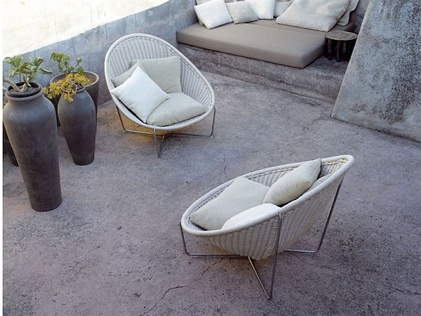 Cozy outdoor furniture from Paola Len