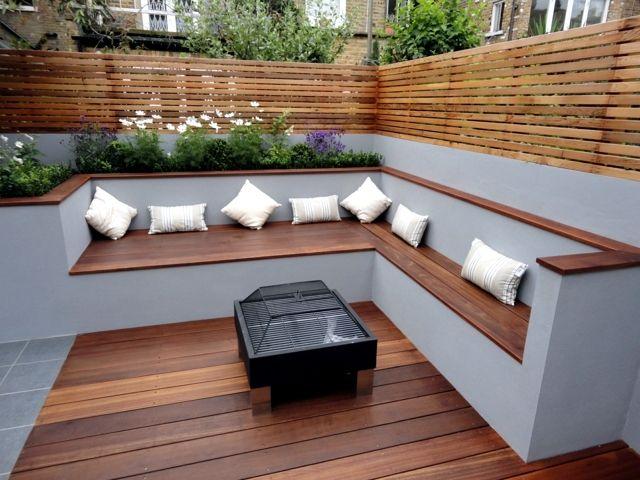 comfortable garden wooden seating - Google Search | Wooden garden .