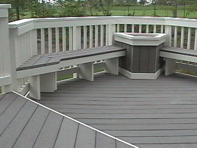deck seating ideas | ... Composite Decking, Composite Deck .