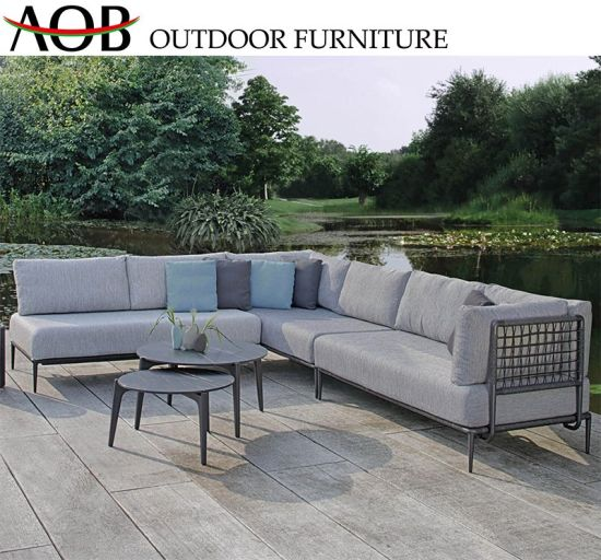 Chinese Contemporary Outdoor Hotel Garden Furniture Sets Aluminium .