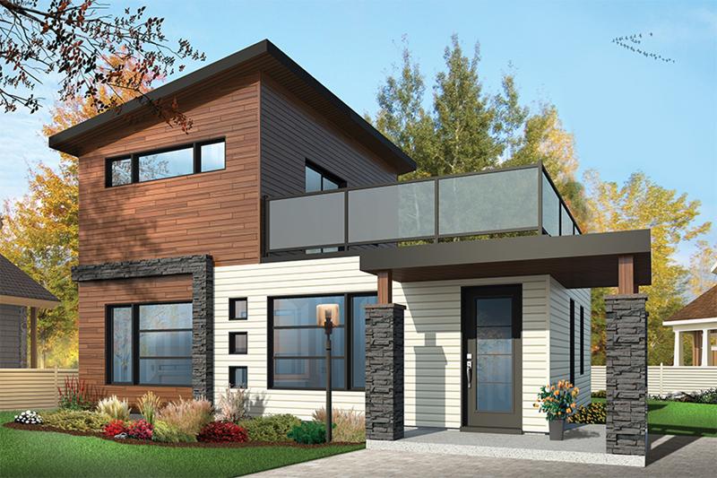 Sundari Contemporary Home Plan 032D-0809 | House Plans and Mo