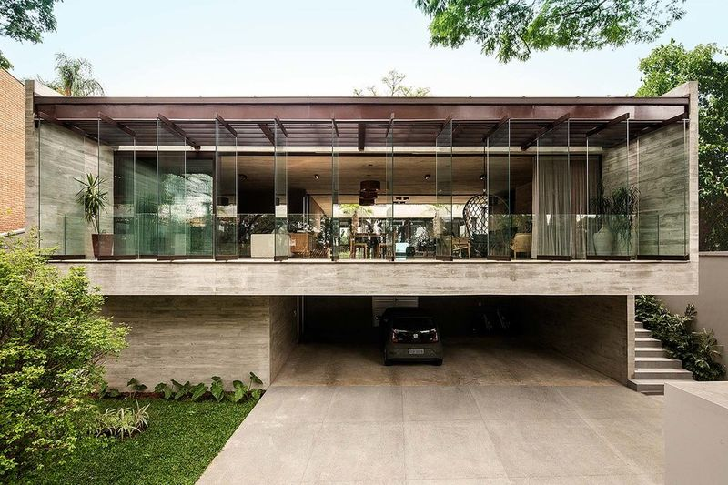U-Shaped Contemporary Homes : jardins hou