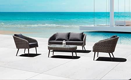 Amazon.com: Whiteline Modern Outdoor Living Taupe Waverly .
