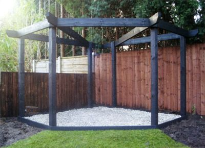 Kinlet Corner Pergola - This would be strong enough for wisteria .