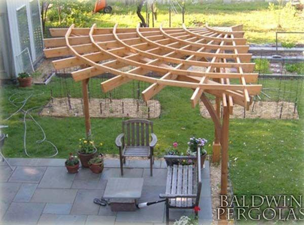 Build a Corner Pergola: 24 Inspiring DIY Backyard Pergola Ideas To .