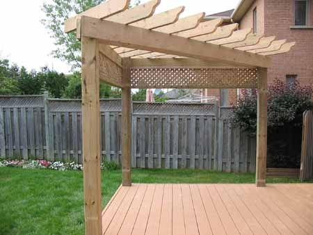 Corner shade arbor deck nice idea. Put a swing on one side and a .