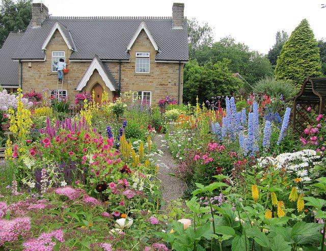 English Cottage Garden (2) | English garden design, Cottage garden .