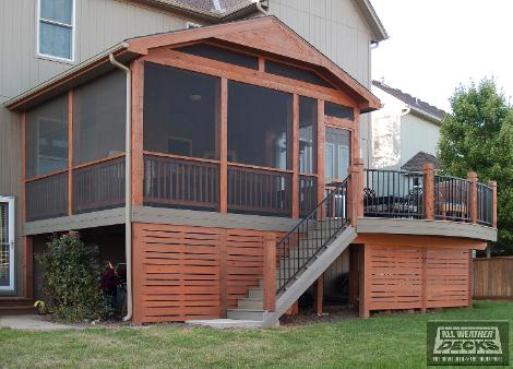Covered Deck and Patio Pictures built by All Weather Dec