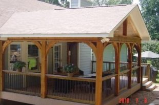 Covered Deck Design Ideas   Gabled roof open porch - Covered .