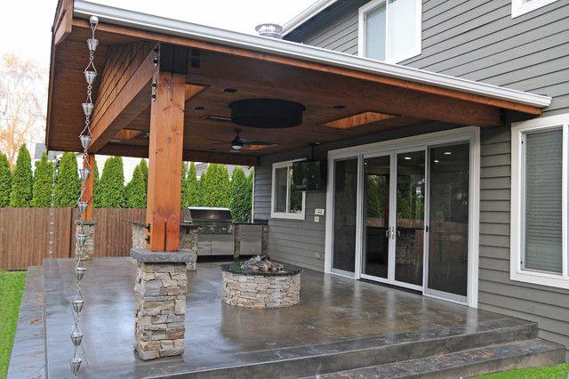 20 Beautiful Covered Patio Ideas | Covered patio design, Backyard .