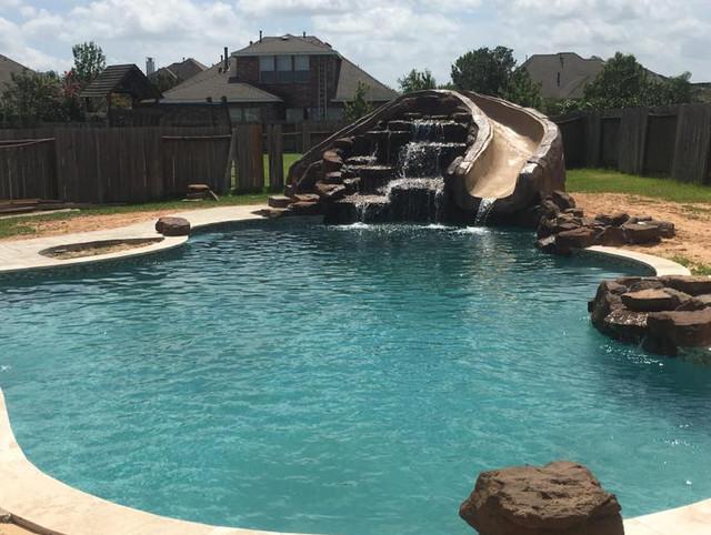 Custom Pools - Rustic - Pool - Orange County - by McKinney Custom .