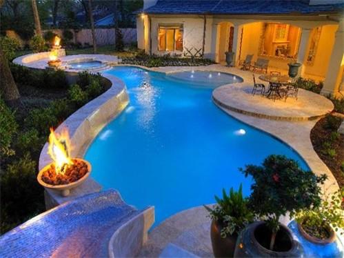 KB Custom Pools - Contemporary - Swimming Pool & Hot Tub - Austin .