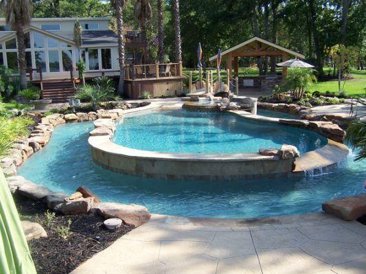 Calvary Custom Pools Lazy River   Swimming pools backya