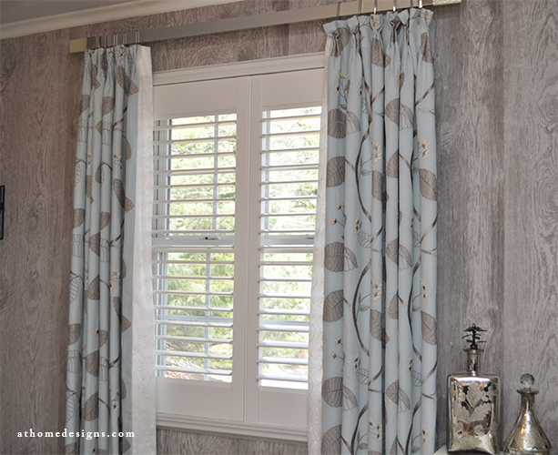 Custom Window Treatments, Panels, Roman Shades - At Home Desig