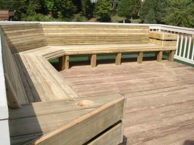 Maybe this style bench on the deck. Needs under seating storage .
