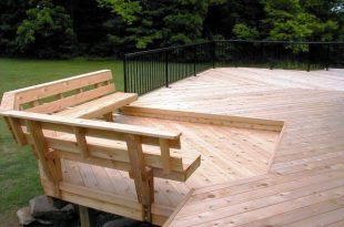 Built in Deck Bench Plans   Bench with back support - Accessories .