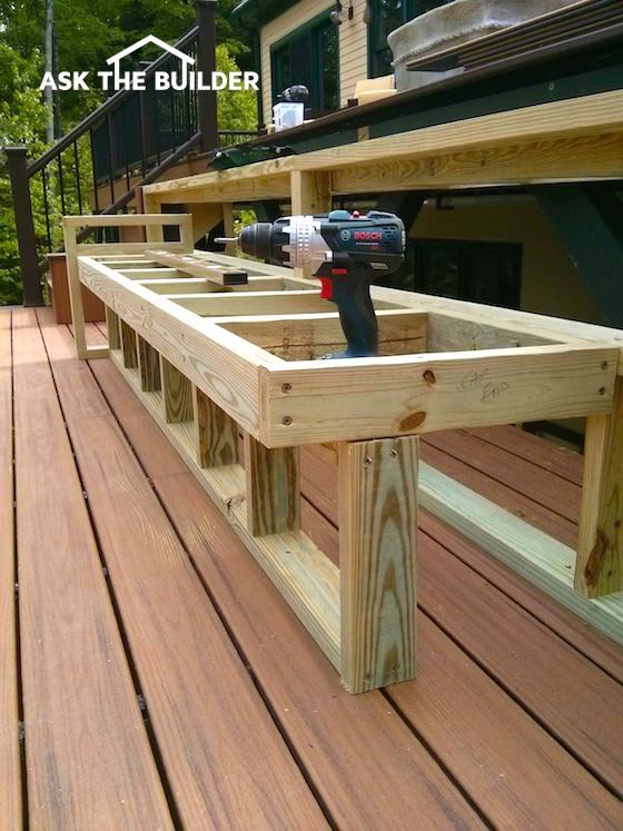deck bench seati