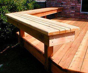 Best Deck Benches - Design Ideas   Deck bench, Backyard, Diy de
