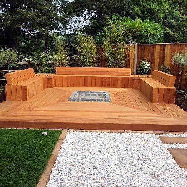 Top 60 Best Deck Bench Ideas - Built-In Outdoor Seating Desig