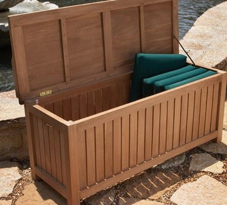 Cedar deck box plans (With images) | Outdoor storage bench, Diy .