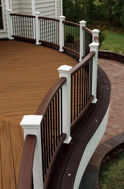 popular deck colors - Google Search | Deck railings, Deck colors .