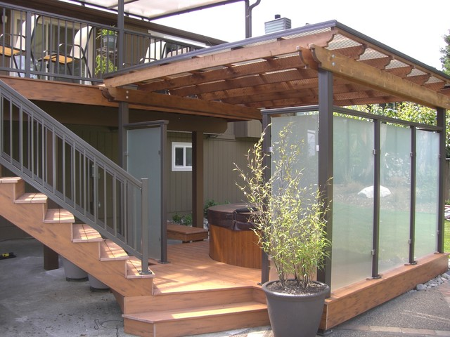 Deck, Rails, Patio Cover, Spa Privacy Enclosure - Contemporary .