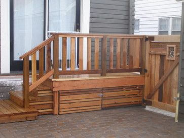 Great way to cover storage under deck or stairs | Deck skirting .