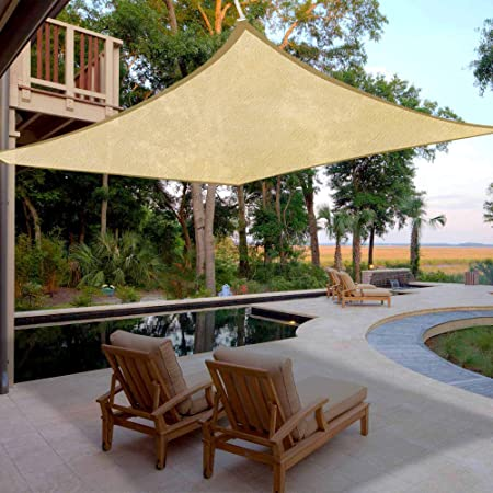 Amazon.com : 18x18' Square Sun Shade Sail Patio Deck Beach Garden .