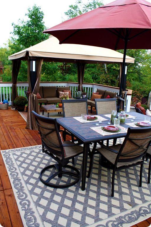 Deck decorating ideas | Backyard gazebo, Patio design, Backyard pat