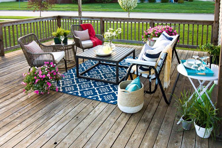Summer Deck Decorating Ideas - Small Stuff Coun