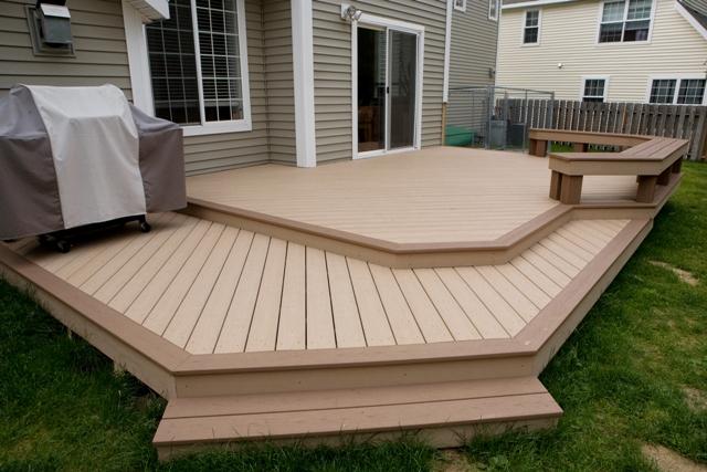 Deck design ideas trex cedar hardwood Alaskan0119 | Saddle T… | Flic