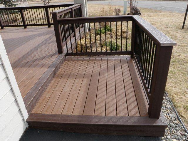 Deck design ideas trex cedar hardwood Alaskan0164 in 2020 | Patio .
