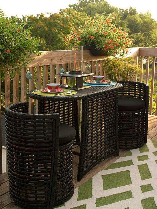 Small Deck Decorating | Small patio, Patio, Deck decorati