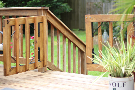 DIY Gates for Deck Stairs | Checking In With Chels