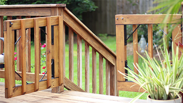 How to Build Gates for a Wood Deck | Today's Homeown