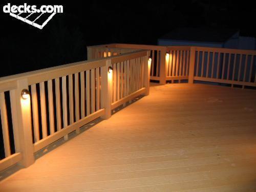 decking lights … | Deck lighting, Backyard lighting, Backyard pat