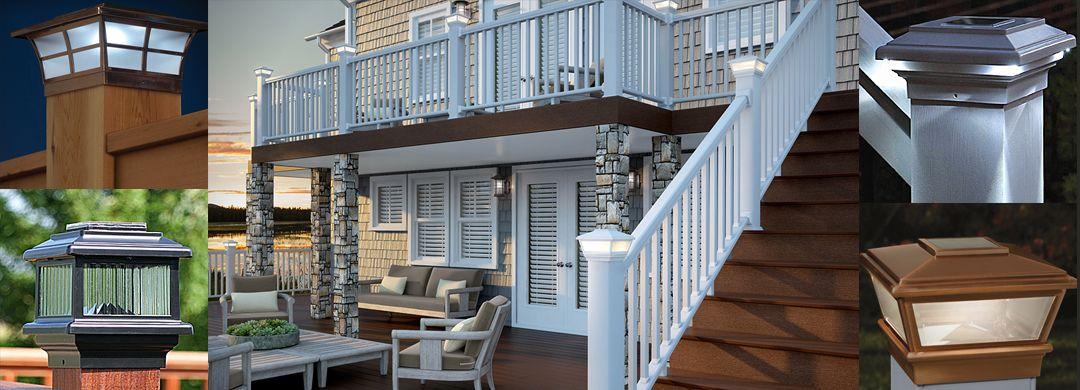 Solar Deck & Fence Post Cap Lights or 6x6 Wood Po