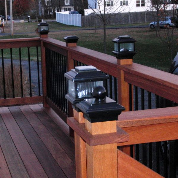 Polaris Solar Post Cap Light by Aurora Deck Lighting | Deck .
